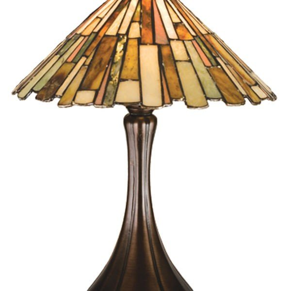 Jadestone Delta Tiffany Stained Glass Accent Lamp