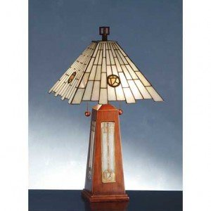 A&C Pendulum Tiffany Stained Glass Table Lamp