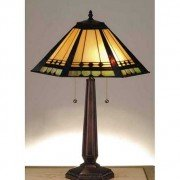 Hex Mission Tiffany Stained Glass Table Lamp