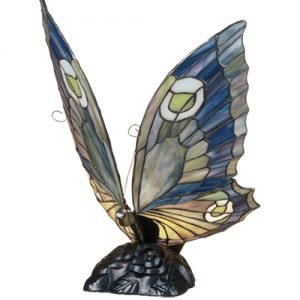 Butterfly Sky Tiffany Stained Glass Accent Lamp