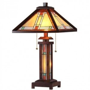 Mission Style Tiffany Stained Glass Floor Lamp