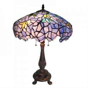 Pastel Wisteria Tiffany Stained Glass Table Lamp