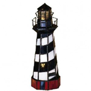 Cape Hatteras Lighthouse Stained Glass Accent Lamp