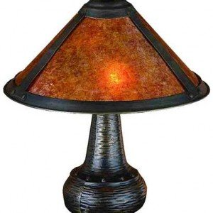 Van Erp Style Amber Mica Accent Lamp