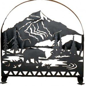 Bear Creek Tiffany Stained Glass Fireplace Screens