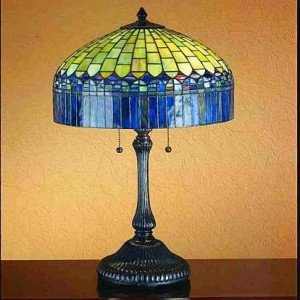 Candice Blue Tiffany Stained Glass Table Lamp