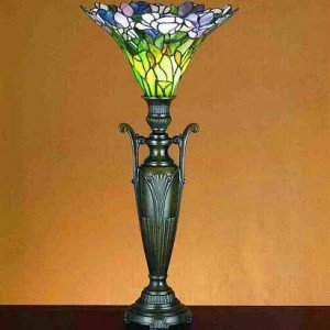 Tulip Urn Tiffany Stained Glass Accent Lamp
