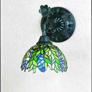 Honey Locust Tiffany Stained Glass Sconce Light