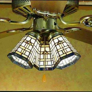 Arrowhead Tiffany Stained Glass Fan Light Shade