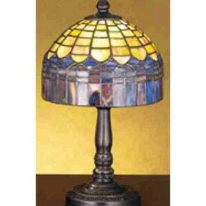 Candice Fringed Tiffany Stained Glass Mini Lamp