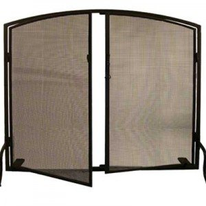 Twin Doors Tiffany Stained Glass Fireplace Screens