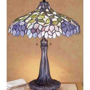 Wisteria Garden Tiffany Stained Glass Table Lamp