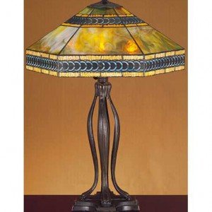 Cambridge Mission Tiffany Stained Glass Table Lamp