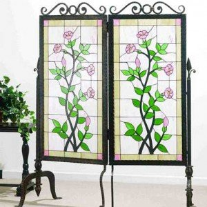 Gerardia Garden Tiffany Stained Glass Room Divider