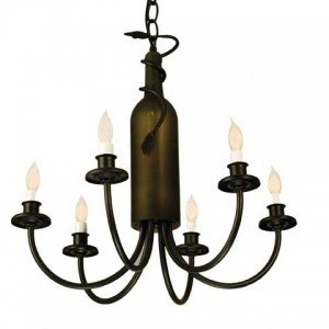 Tuscan Vineyard Tiffany Stained Glass Chandelier Light