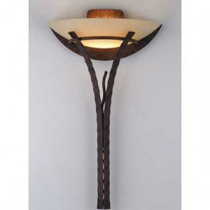 Contemporary Alabaster Glass Metal Wall Sconce Light