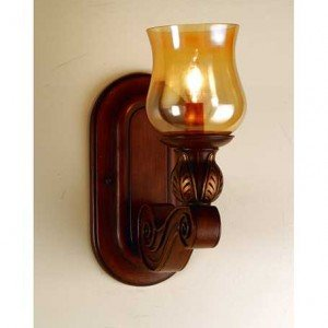 Kendall Amber Glass One Light Wall Sconce