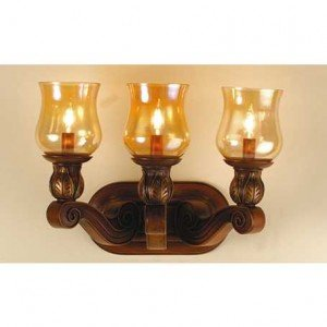 Kendall Amber Glass Inverted Vanity Sconce Light