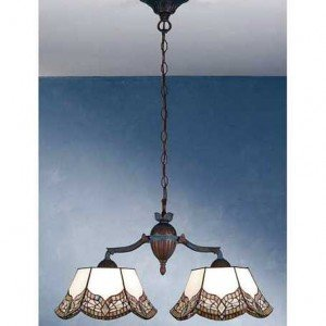 Mariposa Tiffany Stained Glass Island Chandelier Light