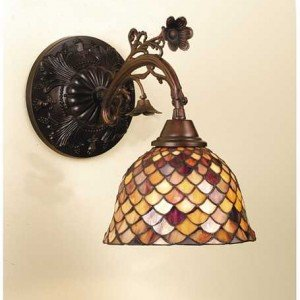 Fish Scale Tiffany Stained Glass Sconce Light