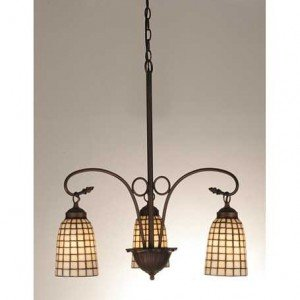 Geometric Bone Tiffany Stained Glass Chandelier Light