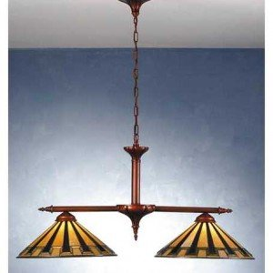 Arts Craft Steppe Tiffany Stained Glass Chandelier