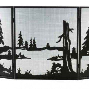 Quiet Pond Tiffany Stained Glass Fireplace Screens
