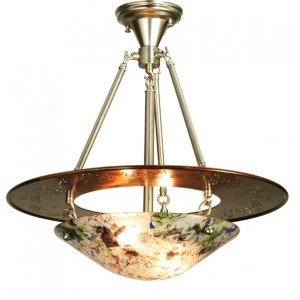 Super Nova Fused Glass Semi Flush Light