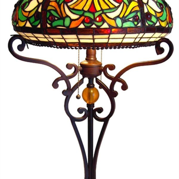Victorian Bowl Tiffany Stained Glass Table Lamp