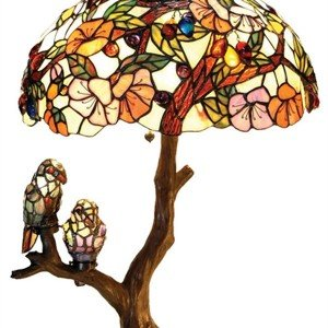 Birds Harmony Tiffany Stained Glass Table Lamp