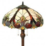 Victorian Swirled Tiffany Stained Glass Floor Lamp