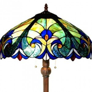 Classic Victorian Tiffany Stained Glass Floor Lamp