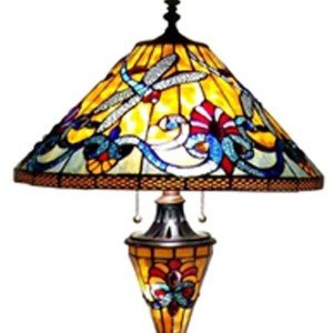 Dragonfly Victorian Tiffany Stained Glass Floor Lamp