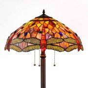 Anisoptera Purity Tiffany Stained Glass Floor Lamp