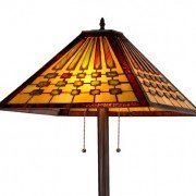 Chadrick Mission Tiffany Stained Glass Floor Lamp