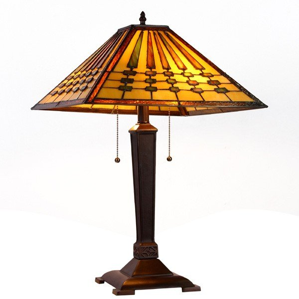 Chadrick Mission Tiffany Stained Glass Desk Lamp