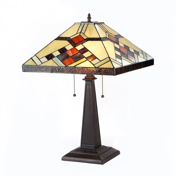 Calhoun Mission Tiffany Stained Glass Table Lamp