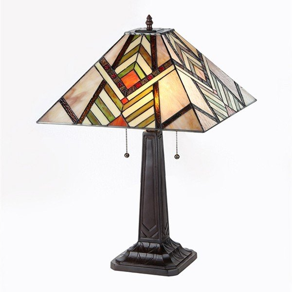 Aberle Mission Tiffany Stained Glass Table Lamp