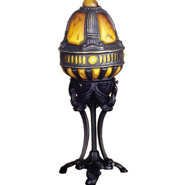 Old World Castle Swan Gold Accent Lamp