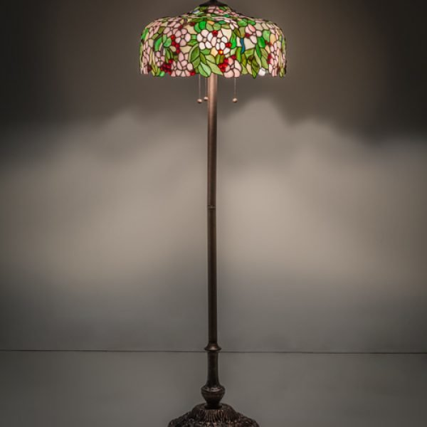 Cherry Blossom Tiffany Stained Glass Floor Lamp