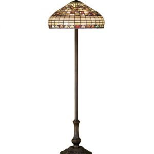 Edwardian Elegant Tiffany Stained Glass Floor Lamp
