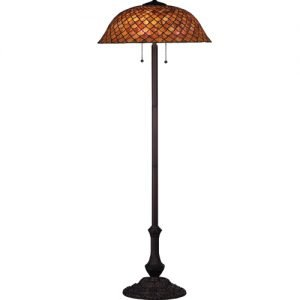 Fishscale Sunset Tiffany Stained Glass Floor Lamp