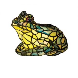 Frog Sunny Tiffany Stained Glass Accent Lamp
