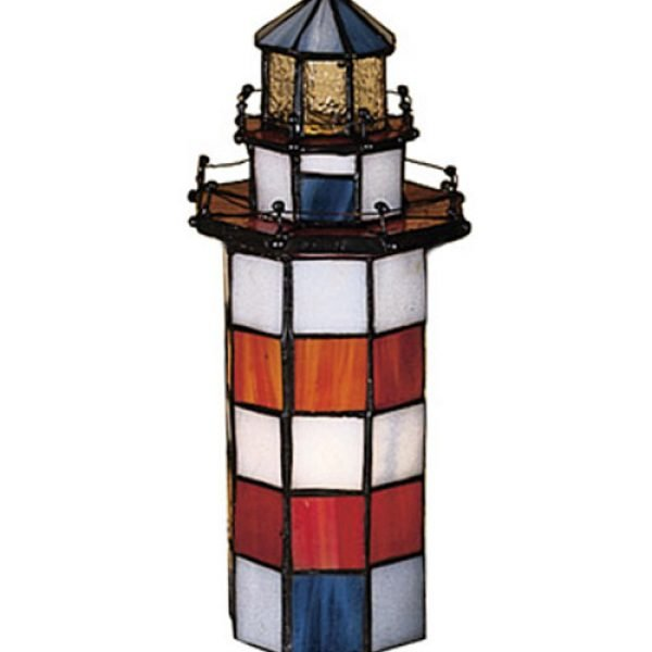 Hilton Head Lighthouse Stained Glass Accent Lamp