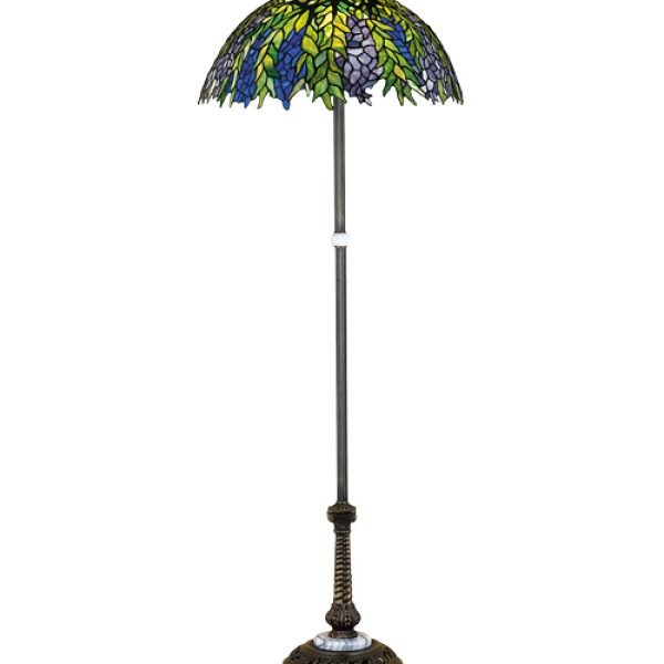 Honey Locust Tiffany Stained Glass Floor Lamp