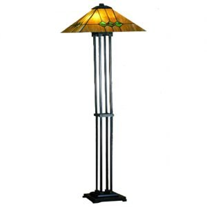 Martini Mission Tiffany Stained Glass Floor Lamp