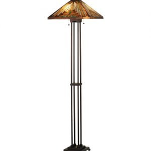 Nuevo Mission Tiffany Stained Glass Floor Lamp