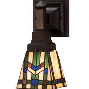 Prairie Wheat Geometrical One Light Wall Sconce