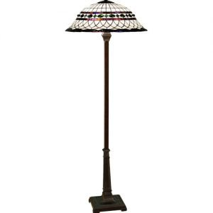 Roman Metallic Tiffany Stained Glass Floor Lamp