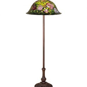 Rose Bush Tiffany Stained Glass Floor Lamp